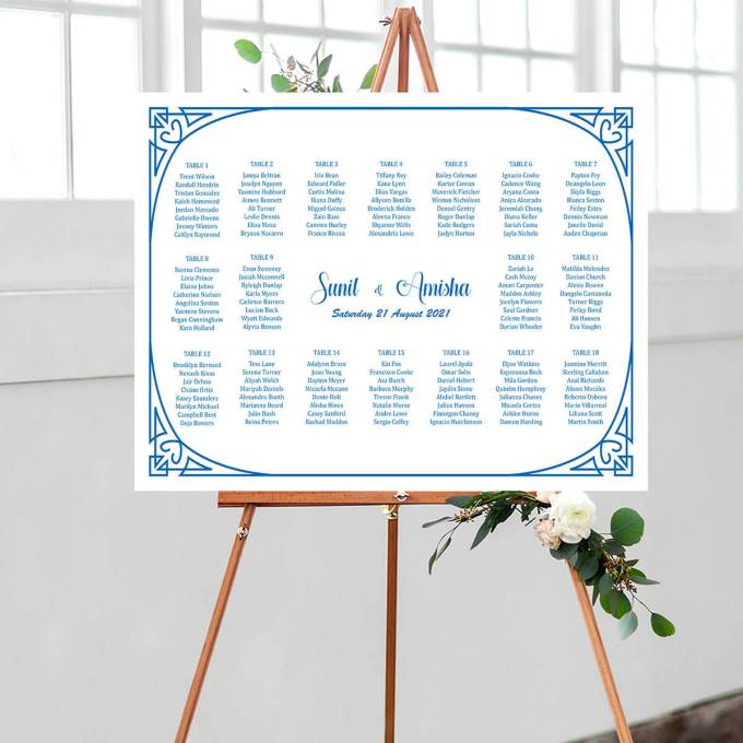 Ornament Theme Wedding Seating Chart