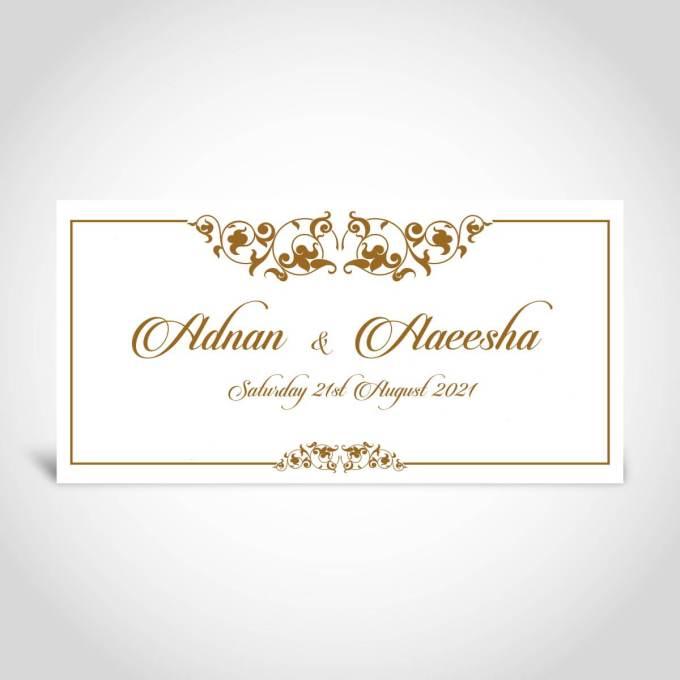 Pearl White Muslim Wedding Card – CFM29