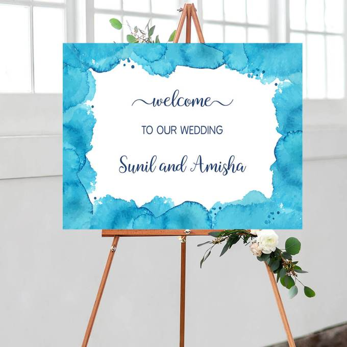 Wedding Welcome Sign – Border – 3