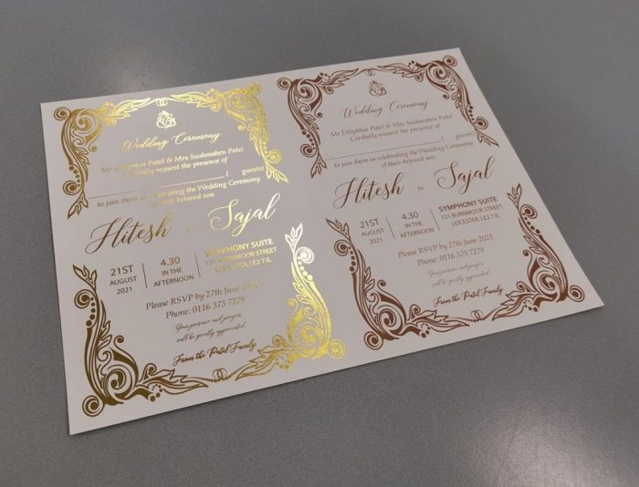 What is the difference between Gold foil printing and Gold printing CardFusion
