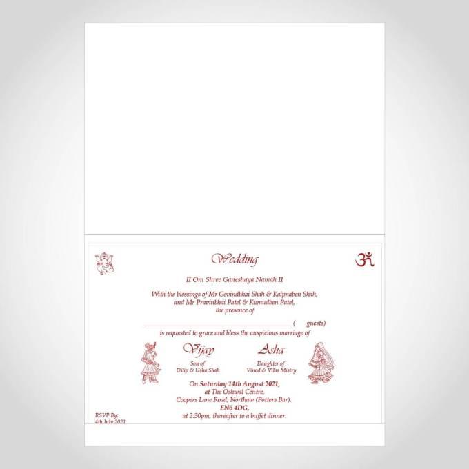Red Watercolour Hindu Wedding Card – CF212