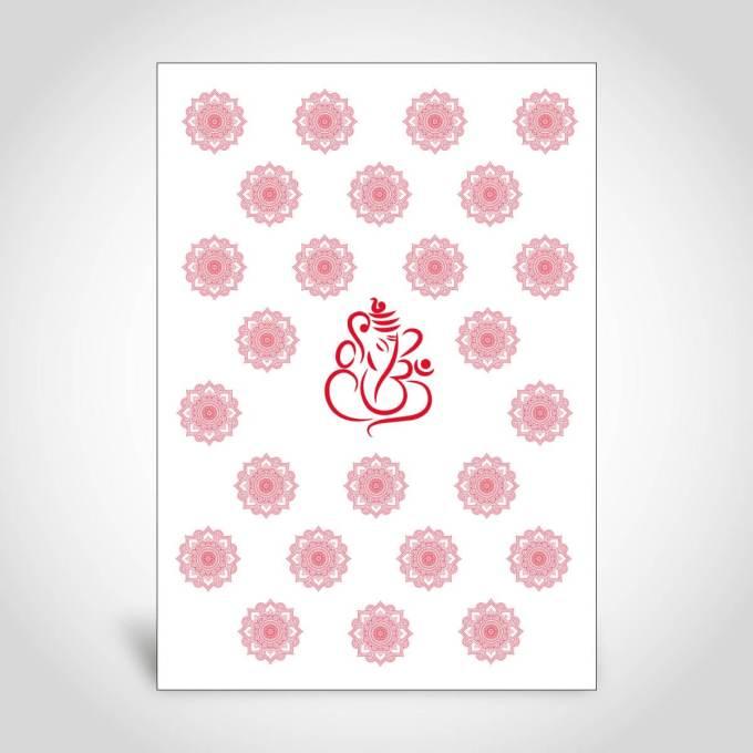 Red Hindu Wedding Card – CFK186