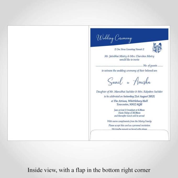 Blue Hindu Wedding Card – CFK205