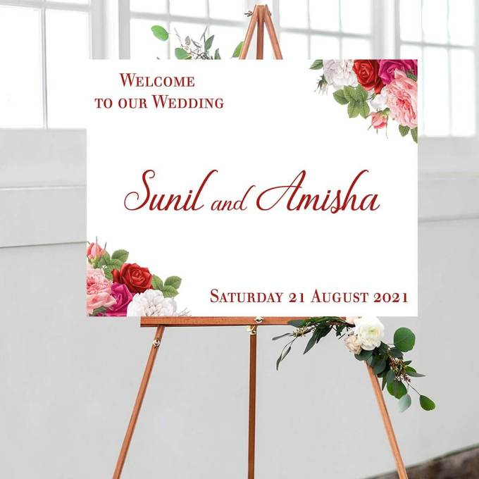 Floral Wedding Welcome Sign – 14