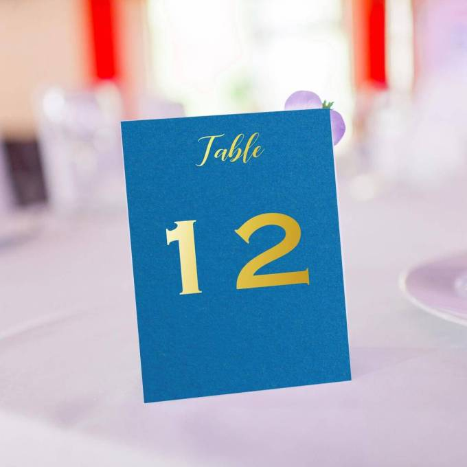 Wedding Table Number | Gold Foiled – 14