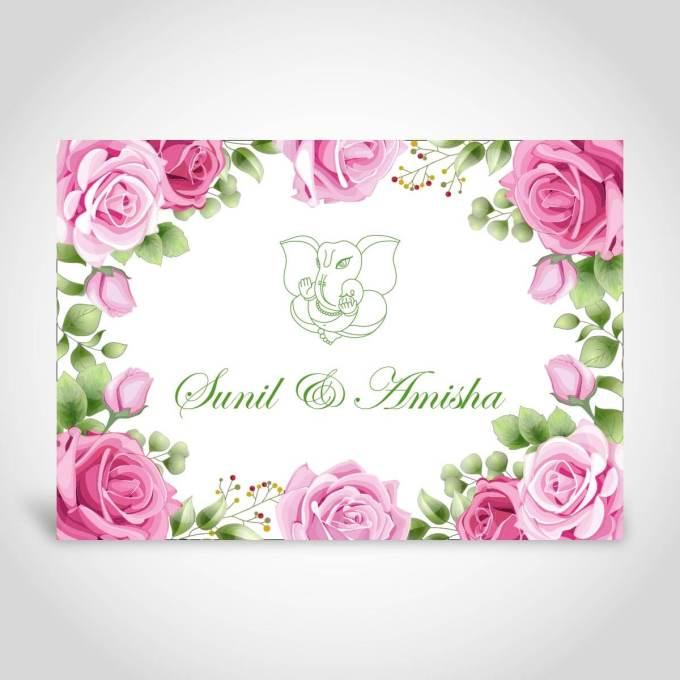 Floral Indian Wedding Card – CFK208