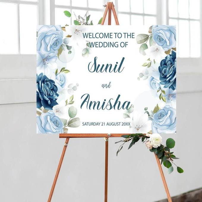 Floral Wedding Welcome Sign – 19