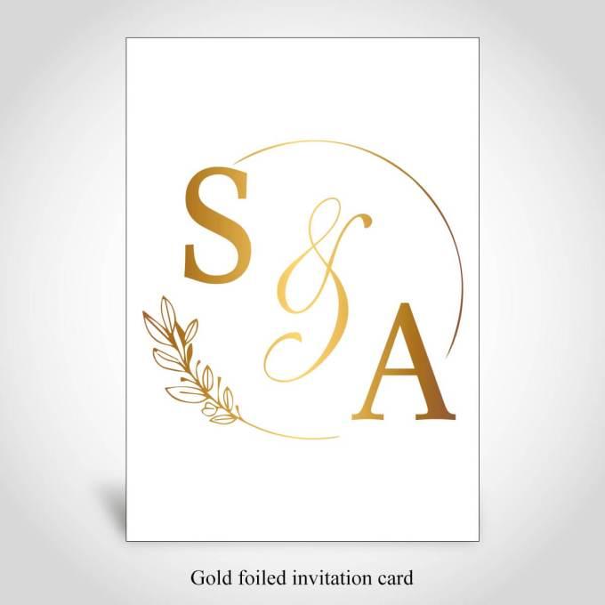 Gold Foiled Invitation Card – CFK277