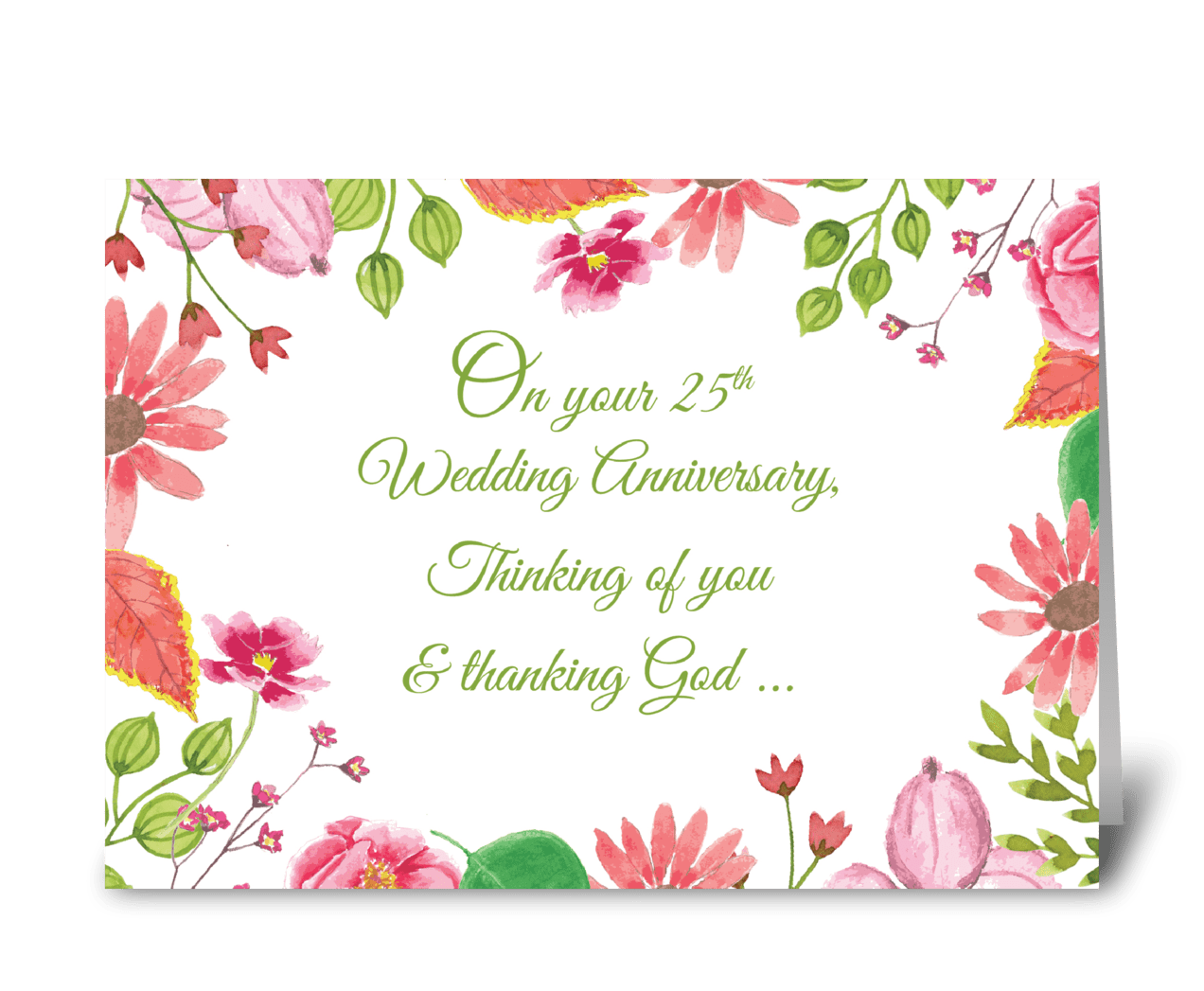 Religious 25th Wedding Anniversary Send This Greeting Card Designed By Sandra Rose Designs Card Gnome