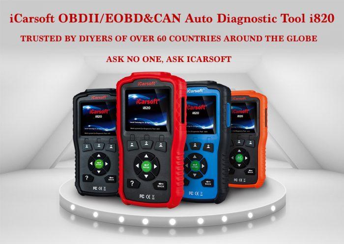 iCarsoft i820 OBDII/EOBD Auto Diagnostic Tool