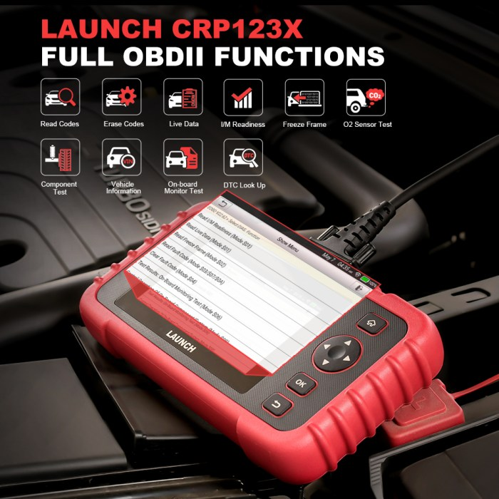 LAUNCH CRP123X OBD2 Scanner OBDII Functions