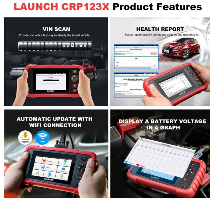 LAUNCH CRP123X OBD2 Scanner Product Features