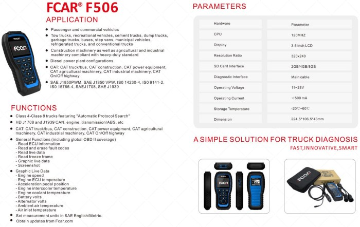FCAR F506 HD 2