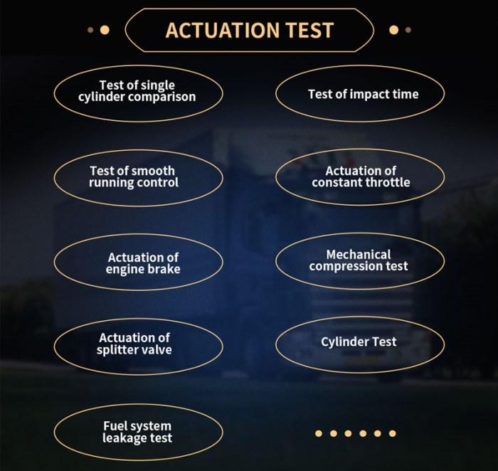 NexzDAS ND506 PLUS Actuation test