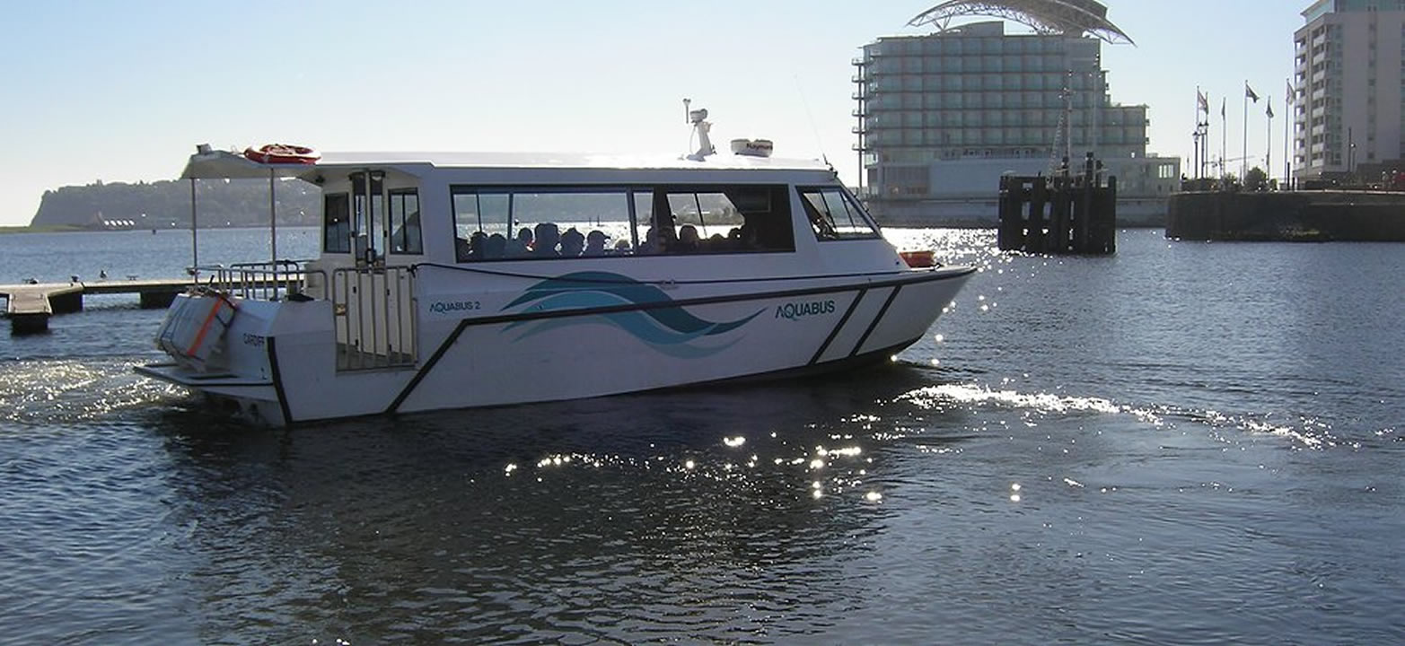 Aquabus on Cardiff Bay