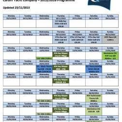 Sail Yacht Schedule