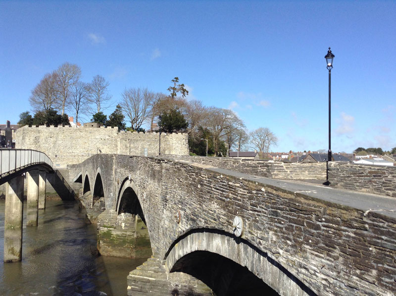 Cardigan Castle from the Old Bridge