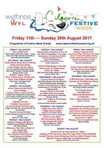 Cilgerran festival programme