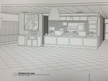 Sketches for the new Chick-fil-A restaurant