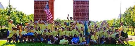 Members of Alpha Tau Omega enjoy time together on bid day 2013. | Submitted photo