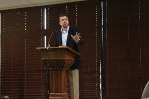 Dr. Justin Barnard speaks on the issue of sexual disorders | Photo by Ali Renckens