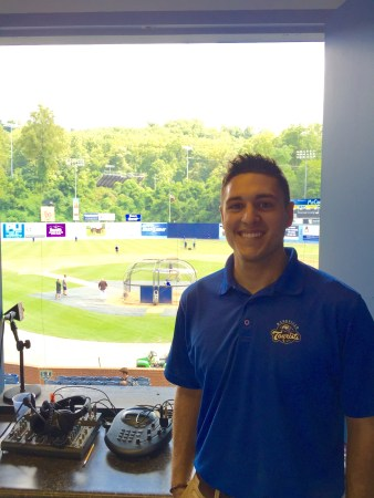 Graham Perkins, senior sports management major, interned with the Asheville Tourists this summer. | Submitted Photo