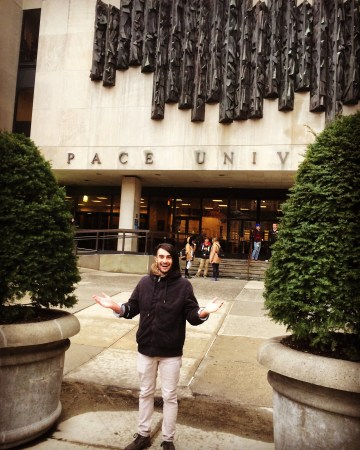 Christian Al-Hagal in front of Pace University