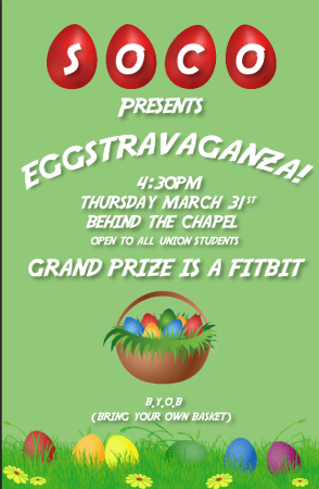 The sophomore council Eggstravaganza will be on March 31 at 4:30 p.m.