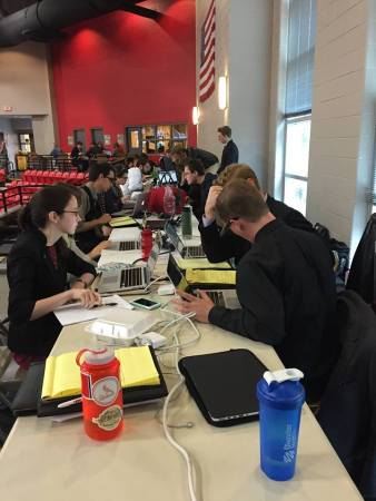 The Debate Team prepares for national tournament competition. | Submitted photo