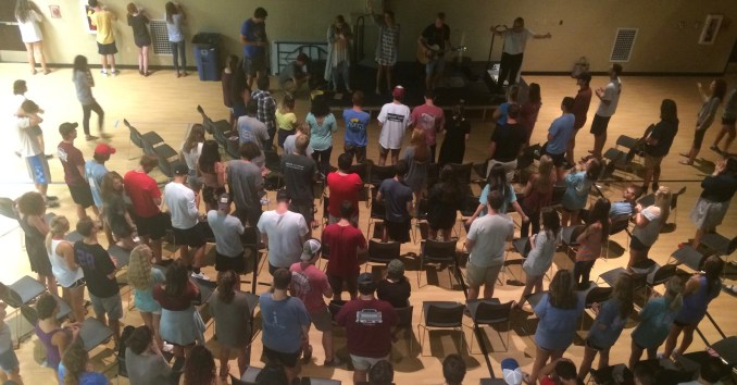 Students gathered in the Bowld to Worship together. | Photo by Grant Allen