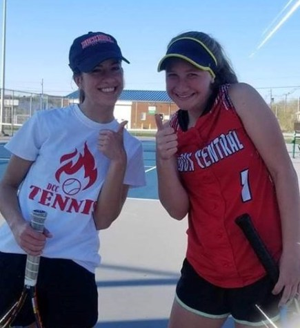 DCC Tennis Team Seals Team Districts with a Win over Punxsy