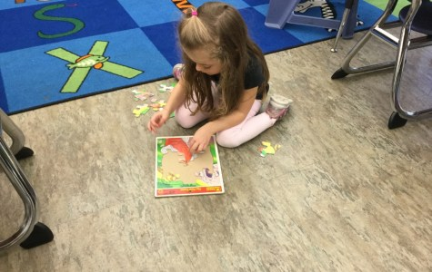 DCC Kindergarten Students Learn P is for Puzzle