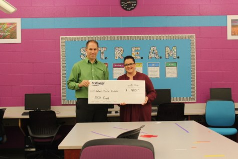 First Energy Stem Grant Presented to Mrs. Tara Karamer of DCC