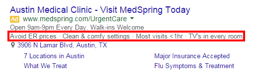 ad extensions for healthcare 2