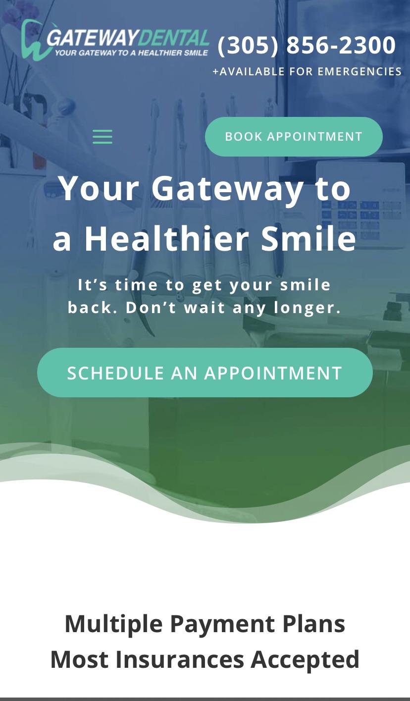 dental mobile website