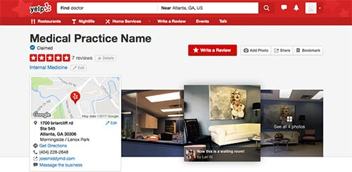 yelp doctor detail