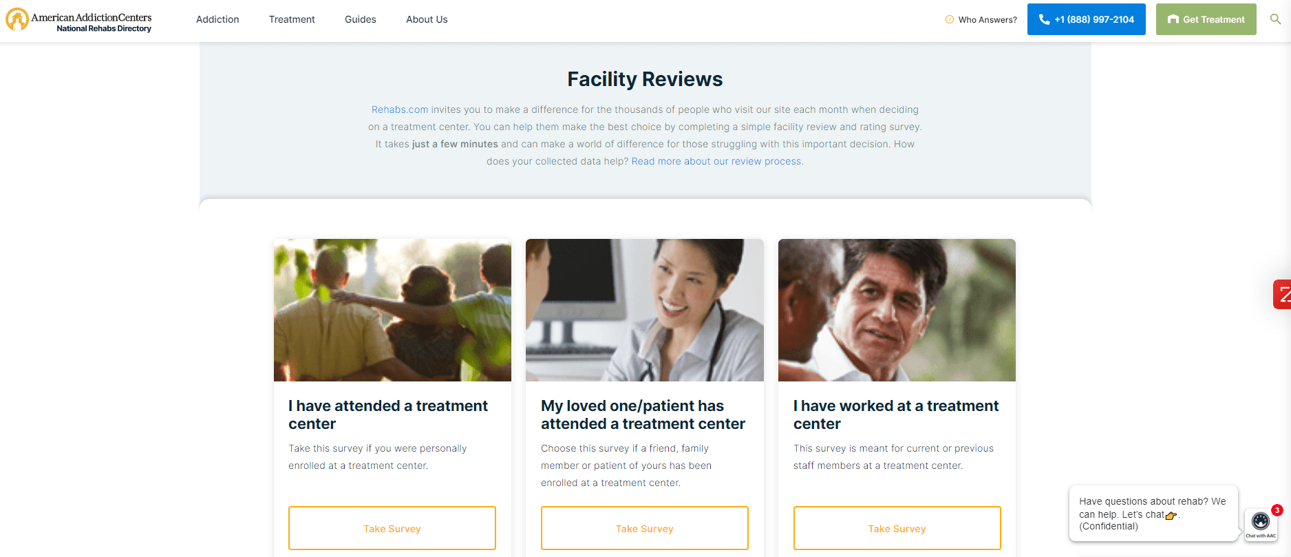 Addiction Center Review Website
