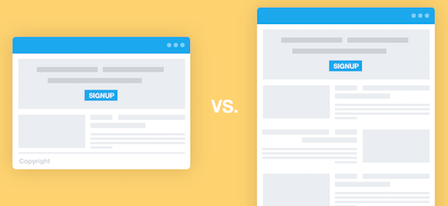 long vs short landing page