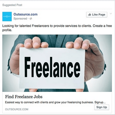 outsource.com facebook ad