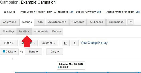 adwords campaign example