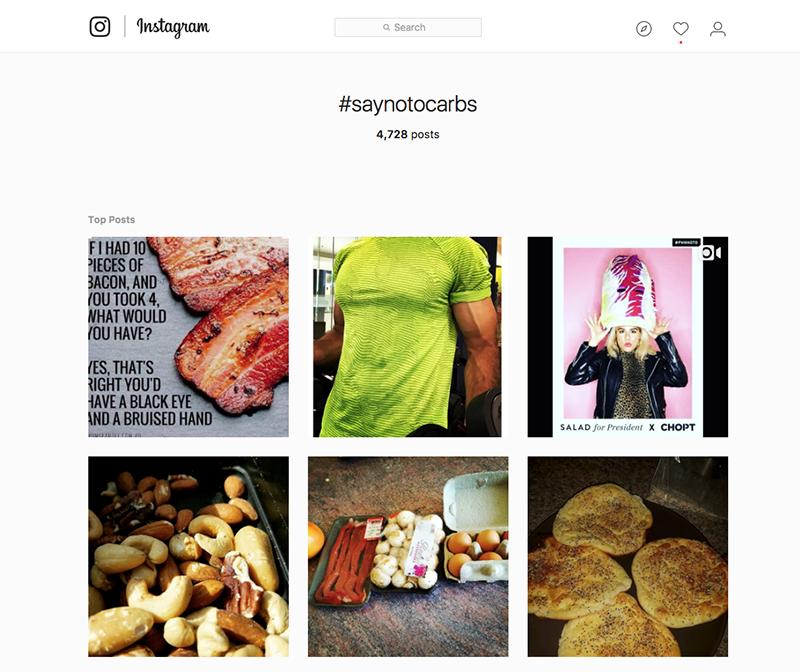 instagram toolbar search