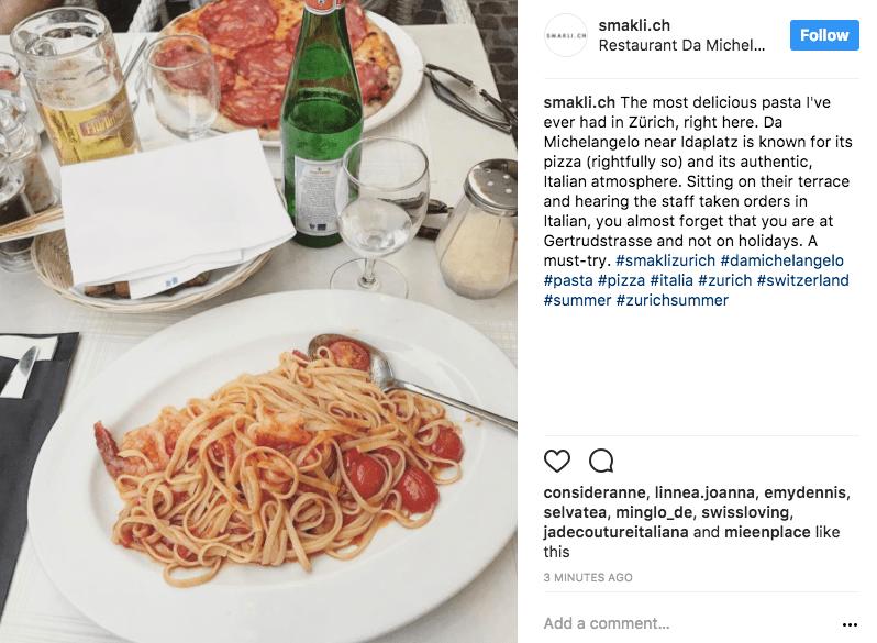 italian restautant instagram