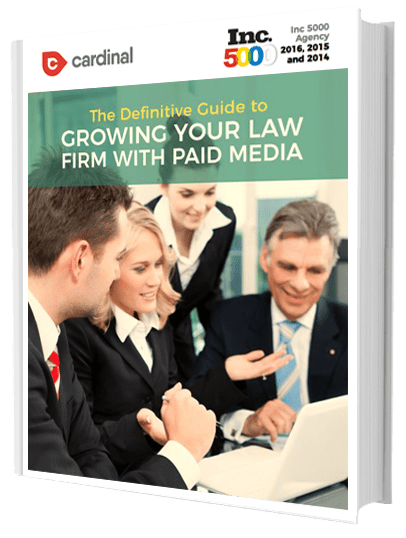 The Definitive Guide to Growing Your Law Firm With Paid Media book cover