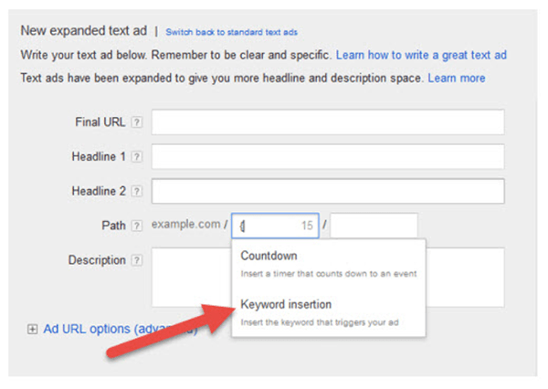 select keyword insertion