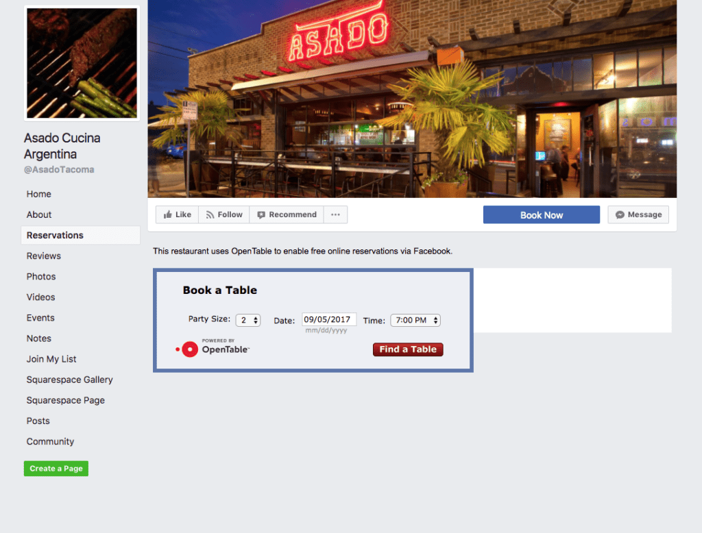 Facebook is a de facto source for up-to-date information on local businesses