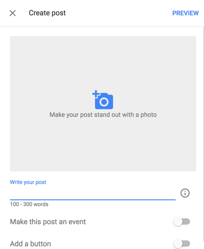 How to create Google Posts