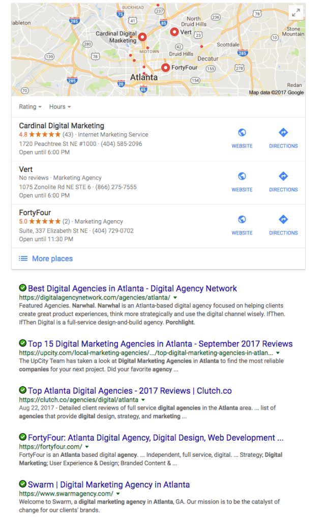 Google Local Businesses Reviews in Search Results