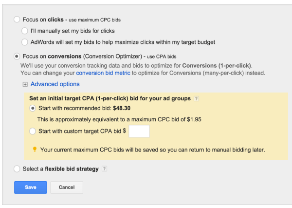 CPA Bidding Strategy is recommended when you want to maximize the number of conversions received