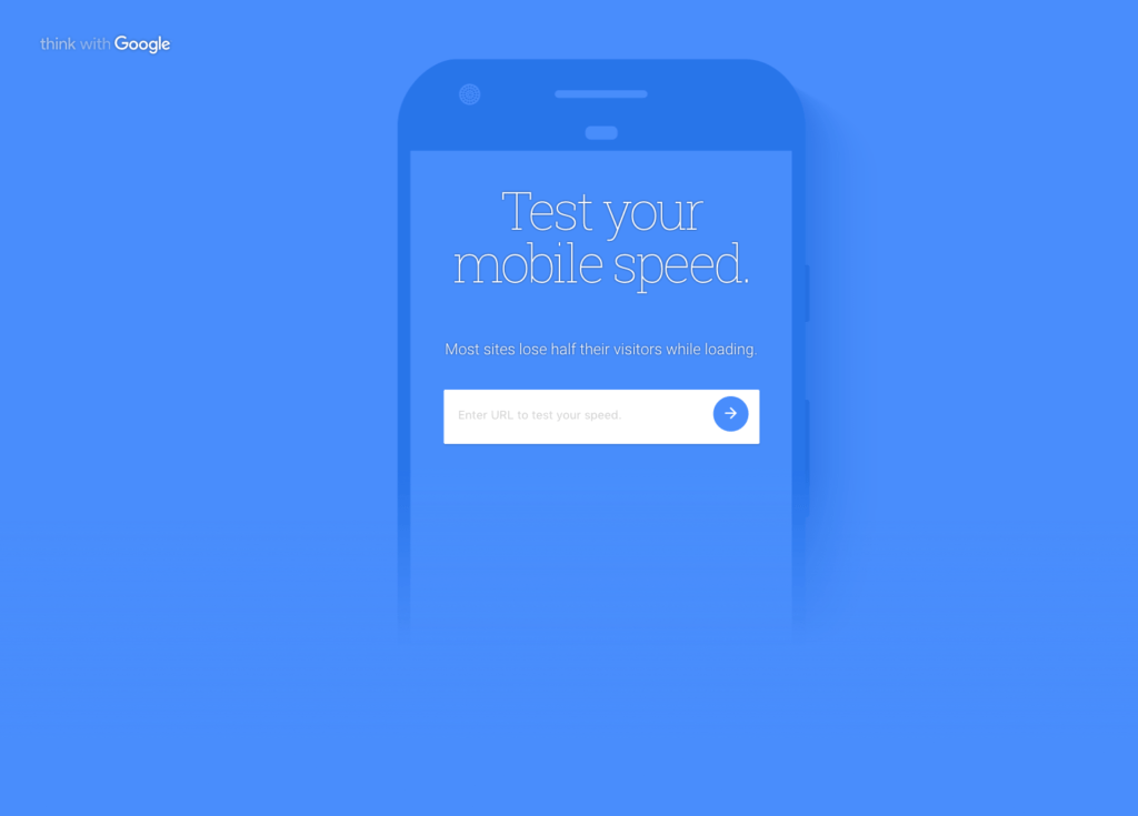 Determine the speed of your mobile site using google site testing tool