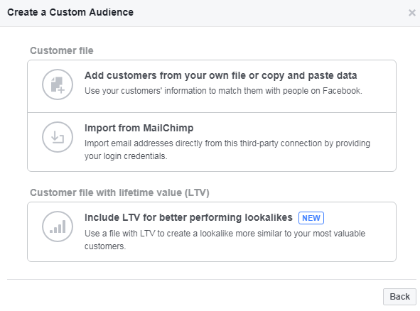 Import your audience data from file or mailchimp account